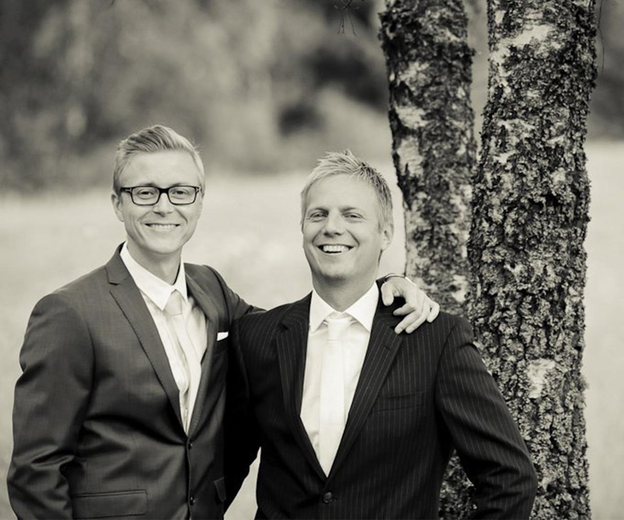 Bilden är från ett av bröllopen (den har några år på nacken...)